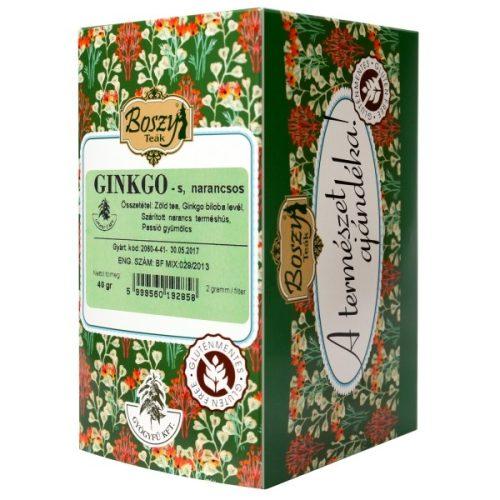 Gyógyfű Boszy GINKGO Narancs-zöld tea 20db filter 20x2g