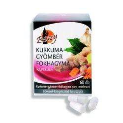Gyógyfű Boszy KURKUMA-GYÖMBÉR-FOKHAGYMA kapszula 60db étrendkiegészítő