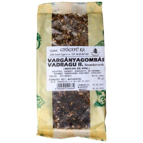 Gyógyfű VARGÁNYAGOMBÁS VADRAGU 2. Fűszerkeverék 50 g