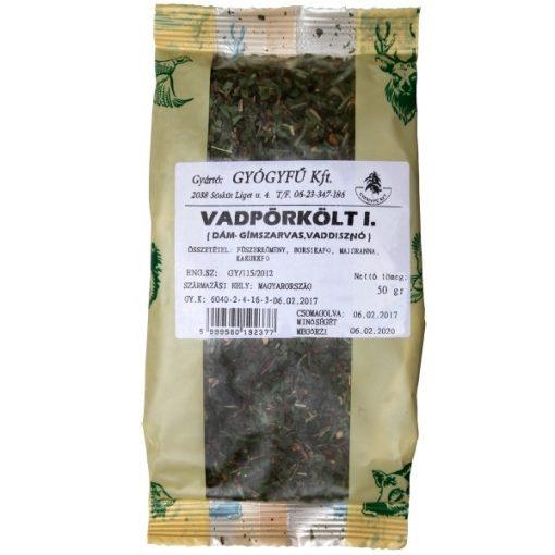 Gyógyfű VADPÖRKÖLT 1. Fűszerkeverék 50 g