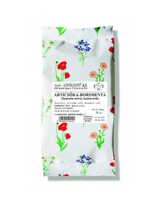 Gyógyfű ARTICSÓKA-BORSMENTA szálas teakeverék 50 g